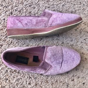 Foamtreads pink size 8 slipper shoes
